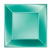 8056-86 Πιάτο φαγητού XL πλαστικό PP τετράγωνο 29x29cm πράσινο ΠΕΡΛΕ, πολυτελείας