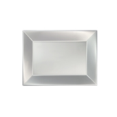 8051-81 Πιατέλα πλαστική PP ορθογώνια 28x19cm λευκή ΠΕΡΛΕ, πολυτελείας