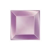 8052-88 Πιάτο γλυκού πλαστικό PP τετράγωνο 18x18cm Λιλά ΠΕΡΛΕ, πολυτελείας