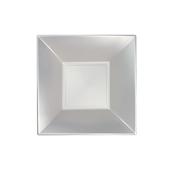 8057-81 Πιάτο σούπας πλαστικό PP τετράγωνο 18x18cm λευκό ΠΕΡΛΕ, πολυτελείας