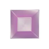 8057-88 Πιάτο σούπας πλαστικό PP τετράγωνο 18x18cm Λιλά ΠΕΡΛΕ, πολυτελείας