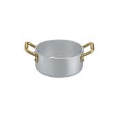 1564012 Κατσαρολάκι αλουμινίου 12cm, με 2 χρυσό χερούλια, Ιταλικό