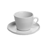 TB012300000 /A Σετ Κούπα με Πιάτο Πορσελάνης WILMA 300cc, Σειρά TORREF B, λευκό