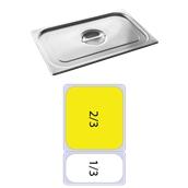 FLG-2/3 Καπάκι δοχείου γαστρονομίας ανοξείδωτο 18/10, GN2/3 (35.4x32.5), FUECO