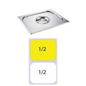 FLG-1/2 Καπάκι δοχείου γαστρονομίας ανοξείδωτο 18/10, GN1/2 (32.5x26.5cm), FUECO