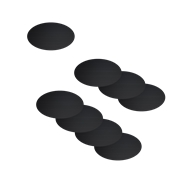 CS-OVAL-8 Σετ 8 αυτοκόλλητες οβάλ ετικέτες 8.5x5cm, μαύρες, για μαρκαδόρους υγρής κιμωλίας