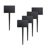 TAG-RECTANGLE-5 Σετ 5 τεμάχια μίνι τετράγωνα ταμπελάκια καρφωτά, 18x8x0.3 cm, με 1 μαρκαδόρο