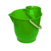 VS.KB/GN Κουβάς πλαστικός 13L με στύφτη, Πράσινος, Ελληνικής Κατασκευής