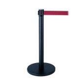 LGR-H Διαχωριστικό κολωνάκι μαύρο με ιμάντα κόκκινο 2 μέτρων.