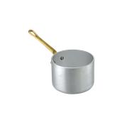 1562010 Κατσαρολάκι βαθύ αλουμινίου 10cm, με 1 χρυσό χερούλι, Ιταλικό