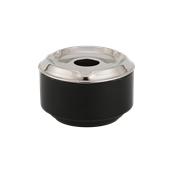 UV.508195(861) Σταχτοδοχείο αντιανεμικό φ11cm Ανοξείδωτο 14/1, μαύρο