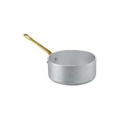 1561012 Κατσαρολάκι αλουμινίου 12cm, με 1 χρυσό χερούλι, Ιταλικό