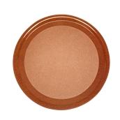 DIA-FE-007/BR Ξύλινος δίσκος σερβιρίσματος με φελλό, φ33cm, καφέ, Ελληνικής κατασκευής