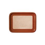 DIA-FE-004/BR Ξύλινος δίσκος σερβιρίσματος με φελλό, 42x32cm, καφέ, Ελληνικής κατασκευής