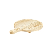 358/30 Ξύλινη Πιατέλα Πίτσας, πεύκο, φ30x2cm, Bisetti Italy