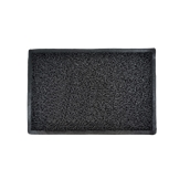 E-1704/BK Ποδόμακτρο λαστιχένιο βαρέως τύπου αράχνη, 6kg/m2, 45x75cm, μαύρο
