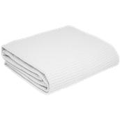 WF280-W-230X250 Κουβέρτα πικέ διπλή, 230x250cm, λευκή, 280gr/m², Πολύ απαλή