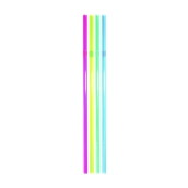 K.154/FS202011 1000 Καλαμάκια Σπαστά, FRAPPE, Φ5x240 mm, Διάφορα Χρώματα