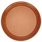 DIA-FE-010/BR Ξύλινος δίσκος σερβιρίσματος με φελλό, φ42cm, καφέ, Ελληνικής κατασκευής