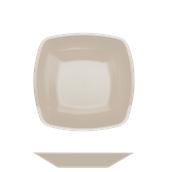 4057-41 Πιάτο σούπας βαθύ πλαστικό PP τετράγωνο 18x18cm γκριζο-μπεζ πολυτελείας.