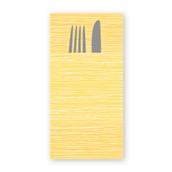 """88471000 ΠΑΚΕΤΟ 40 Χαρτοπετσέτες Airlaid """"Quick Pocket"""" napkins 40x40 Millerighe mimosa, FATO Ιταλίας"""