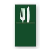 88480600 ΠΑΚΕΤΟ 50 Χαρτοπετσέτες Airlaid  Quick Pocket 40x40 Tablewear πράσινες, FATO Ιταλίας