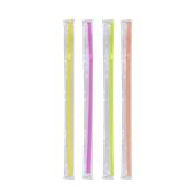 FS202011F 1000 Καλαμάκια Σπαστά, Σελοφάν 1/1, FRAPPE, Φ5x240 mm, Διάφορα χρώματα
