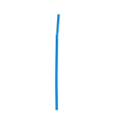 FS102015 1000 Καλαμάκια Σπαστά, FRAPPE, Φ5x240 mm, Μπλε
