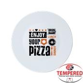 RONDA33/ORANGE Πιάτο Πίτσας Οπαλίνας, φ33cm, Σχέδιο Πορτοκαλί, Bormioli Rocco