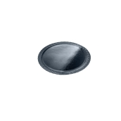 LENERP28A Δίσκος-Βάση Τούρτας Πλαστικοποιημένη πολυτελείας, Φ28cm σε μαύρο χρώμα, Ιταλίας