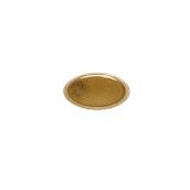 LEORRP23A Δίσκος-Βάση Τούρτας Πλαστικοποιημένη πολυτελείας, Φ23cm σε χρυσό χρώμα, Ιταλίας