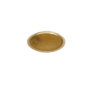 LEORRP28A Δίσκος-Βάση Τούρτας Πλαστικοποιημένη πολυτελείας, Φ28cm σε χρυσό χρώμα, Ιταλίας