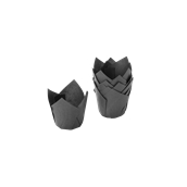 TV5NE Xάρτινη θήκη ψησίματος Tulip, μαύρη, Tulip φ50(βάση)x50mm, Ιταλίας