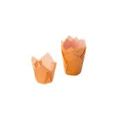 TV5R04 Xάρτινη θήκη ψησίματος Tulip, πορτοκαλί, Tulip φ50(βάση)x50mm, Ιταλίας