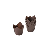 TV5CA Xάρτινη θήκη ψησίματος Tulip, σοκολατί, Tulip φ50(βάση)x50mm, Ιταλίας