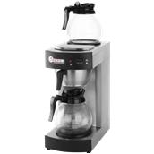 208304 Καφετιέρα Φίλτρου με 2 Κανάτες και 2 Εστίες Συντήρησης Θερμοκρασίας Καφέ, HENDI