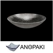 LK1727-SM-23 Μπωλ βαθύ στρογγυλό από χυτό γυαλί 6mm, φ23cm, ανθρακί