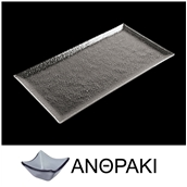 LK1870R-SM-32X53 Δίσκος ορθογώνιος από χυτό γυαλί 6mm, 32x53cm, ανθρακί
