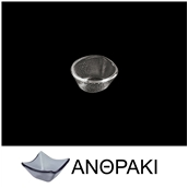 LK1B01-SM-8X9 Μπωλάκι βαθύ από χυτό γυαλί 6mm, 8x9cm, ανθρακί