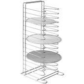 AC-PRO Βάση 15 ραφιών 30x30cm για ταψιά πίτσας έως φ36cm, ύψος 65.5cm, Ιταλικής Κατασκευής