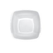 4057-11 Πιάτο σούπας βαθύ πλαστικό PP τετράγωνο 18x18cm άσπρο πολυτελείας.