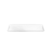 K-2044/WHITE Πιατέλα Μελαμίνηs 18χ 35 cm Λευκή, Alkan