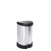 BLK582-20LT Κάδος με πεντάλ, 20L, 30.3x26.8x44.8cm, πλαστικός μεταλιζέ, Curver