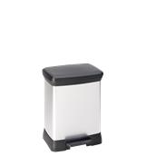 BLK582-30LT Κάδος 30L, DECOBIN 39x29x50,5cm, πλαστικός μεταλιζέ, Curver