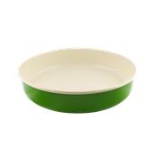 740507 Ταψί στρογγυλό εμαγιέ, φ34cm, πράσινο-μπεζ