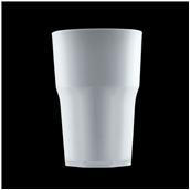 2763-PP Πλαστικό ποτήρι PP πισίνας 42cl ημιδιάφανο λευκό πάγου