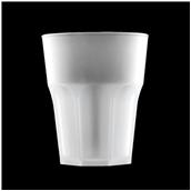 2764-PP Πλαστικό ποτήρι PP πισίνας 33cl ημιδιάφανο λευκό πάγου