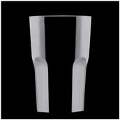 2763-19 Πλαστικό ποτήρι SAN πισίνας 42cl μαύρο