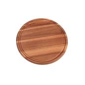64001 Ξύλινο Πιάτο με Λούκι Στρογγυλό, Φ25x1,5cm, από Ακακία