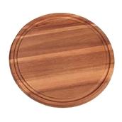 64003 Ξύλινο Πιάτο με Λούκι Στρογγυλό, Φ35x1,5cm, από Ακακία